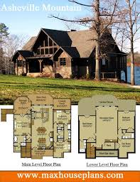 house plans with big windows rustic lake house plan with an open living floor plan featuring