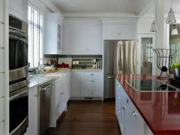 red kitchen with white cabinets interesting colorful kitchen