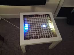 Coffee Tables With Led Lights Bluetooth Controlled Arduino Led Coffee Table 10 Steps With