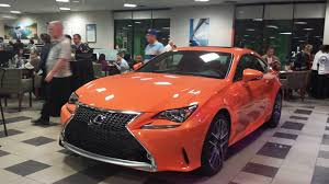 lexus sport orange rc f rc 350 nx launch party pics from longo lexus