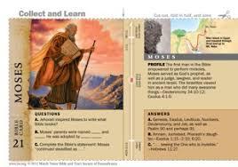 bible character card moses