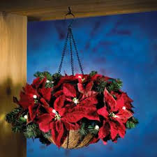 christmas hanging baskets with lights pretty sure i can make this for cheaper but holy fabulous idea