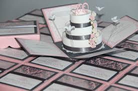 Box Wedding Invitations Jinky U0027s Crafts U0026 Designs Pink And Gray Modern Wedding Invitations