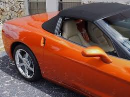 atomic orange corvette convertible for sale 2009 atomic orange convertible interior auto 3lt dual