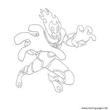 ben 10 inferno coloring pages printable