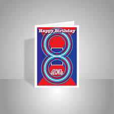 personalised 8th birthday card edit name happy birthday