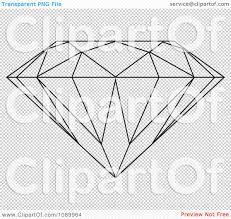 diamond clipart clipart outlined diamond royalty free vector illustration by