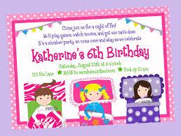 Party Invitation Card Design Pajama Party Invitation Card Design Inspirations Momecard