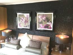 black glitter wallpaper in living room nakicphotography