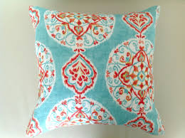 bedroom unusual turquoise pillow decorative for dark blue