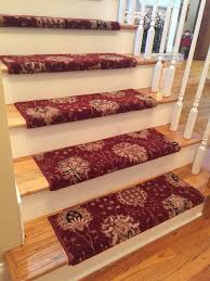 Stair Laminate Flooring Cinnabar Custom Wool True Bullnose Carpet Stair Tread New Zealand