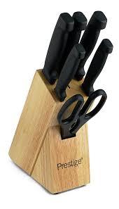 prestige kitchen knives prestige stainless steel knife and scissors block set plain