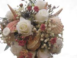 seashell bouquet diy seashell bridal bouquet with flowers seashell crafts and
