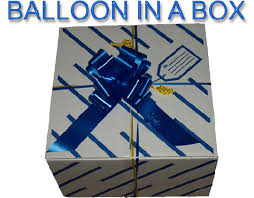 balloon in a box delivery balloon in a box glasgow helium balloons glasgow wedding