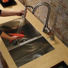 Kitchen Sink Faucet Combo Kraus 36 Inch Farmhouse Single Bowl Stainless Steel