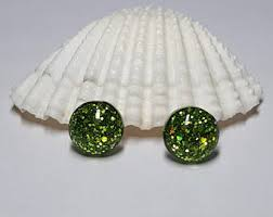 sparkly green earrings green earrings etsy