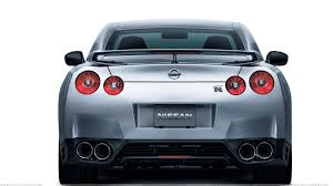 Nissan Gtr 2012 - back pose of 2012 nissan gt r in silver wallpaper