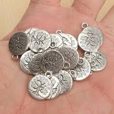 20pcs vintage antique silver tree of necklace pendant charm