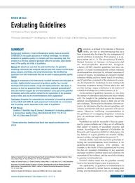 evaluating guidelines 06 07 2015