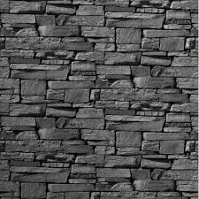 Stone Wall Tiles For Living Room Grandeco Dax Dry Stone Wall Slate Brick Effect Vinyl Wallpaper