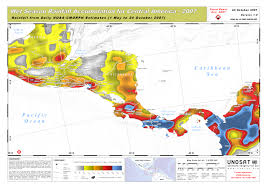 Montana Weather Map by Wet Season Rainfall Accumulation For Central America 2007 Unitar