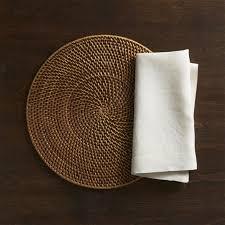 placemats u0026 napkins vinyl cloth u0026 woven crate and barrel
