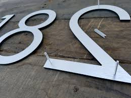 8 u0027 u0027 modern house numbers brushed aluminum stud mounted metal