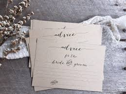 advice to the and groom cards rustic wedding advice cards advice cards advice for the
