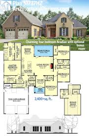four bedroom house plan 51737hz charming four bedroom acadian with optional bonus