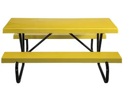 Picnic Table Frame Rectangular Picnic Tables Metal Wood Concrete Recycled Plastic