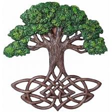 tree of celtic knot wall plaque celtic tree of