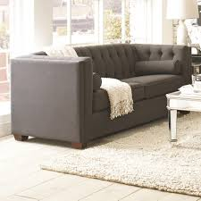Queen Bed Frames For Sale In Cairns Coaster Cairns Stationary Sofa With Tufted Back And Lumbar Pillows