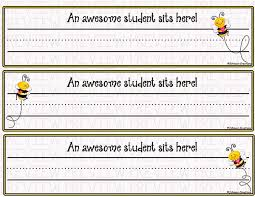 student name tags for desks johnson creations bee desk name tags