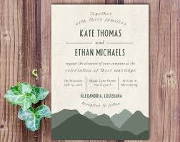 mountain wedding invitations wedding invitation tree wedding invitation mountain wedding
