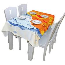 fire table cover rectangle baihuishop yin yang water and fire tablecloth rectangular polyester