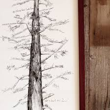 tree guest book wedding guest book alternative signature tree unique guest