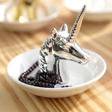 porcelain unicorn ring holder images Eastyle white unicorn small jewelry rack rings jpg