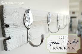 diy spoon pallet hook rack the wood grain cottage