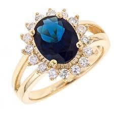blue fashion rings images Princess diana kivn womens fashion royal blue and cubic zirconia jpg