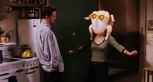 all the best gifs from the friends thanksgiving episodes telling