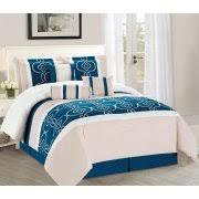 White And Teal Comforter Wpm Bedding Sets Walmart Com