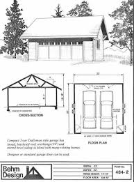 Craftsman Style Garage Plans by Amazon Com Garage Plans Craftsman Style 2 Car Garage Plan 484 2