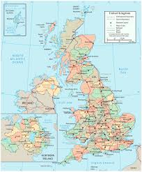 Map Of England And Scotland by Detailed Political And Administrative Map Of United Kingdom With