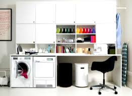 modern white images of small laundry rooms on the floor with black
