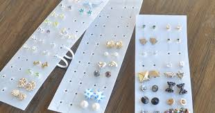 plastic stud earrings how to make an easy stud earrings organizer the beading gem s