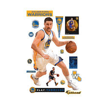 fathead 76 in h x 51 in w klay thompson no 11 wall mural 22 11 wall mural