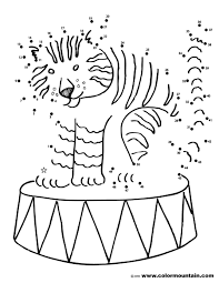 tiger coloring dot to dot page create a printout or activity