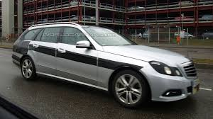 2009 mercedes e350 wagon mercedes e class wagon spied again with camouflage