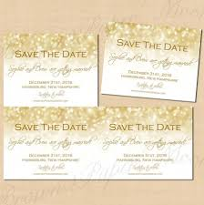 White And Gold Wedding Invitation Cards White Gold Sparkles Save The Dates 5 5x4 25 Text Editable