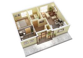 25 more 2 bedroom 3d floor plans house view big luxihome adorable